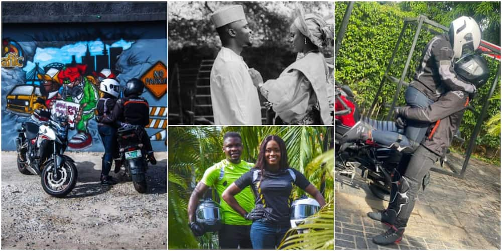Time to Ride Forever: Nigerian Lady Biker who Married Fellow Biker Shares Love Story as Cute Photos Emerge