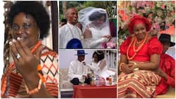 64 year old woman finally marries for the 1st time, said God blessed her