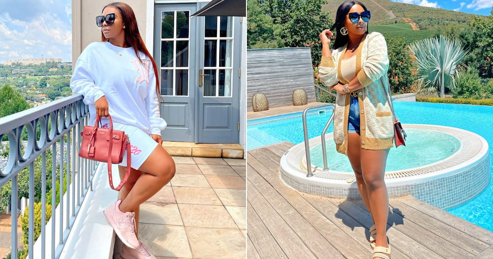 Work out: Boity Thulo shows off gorgeous curves in gym gear