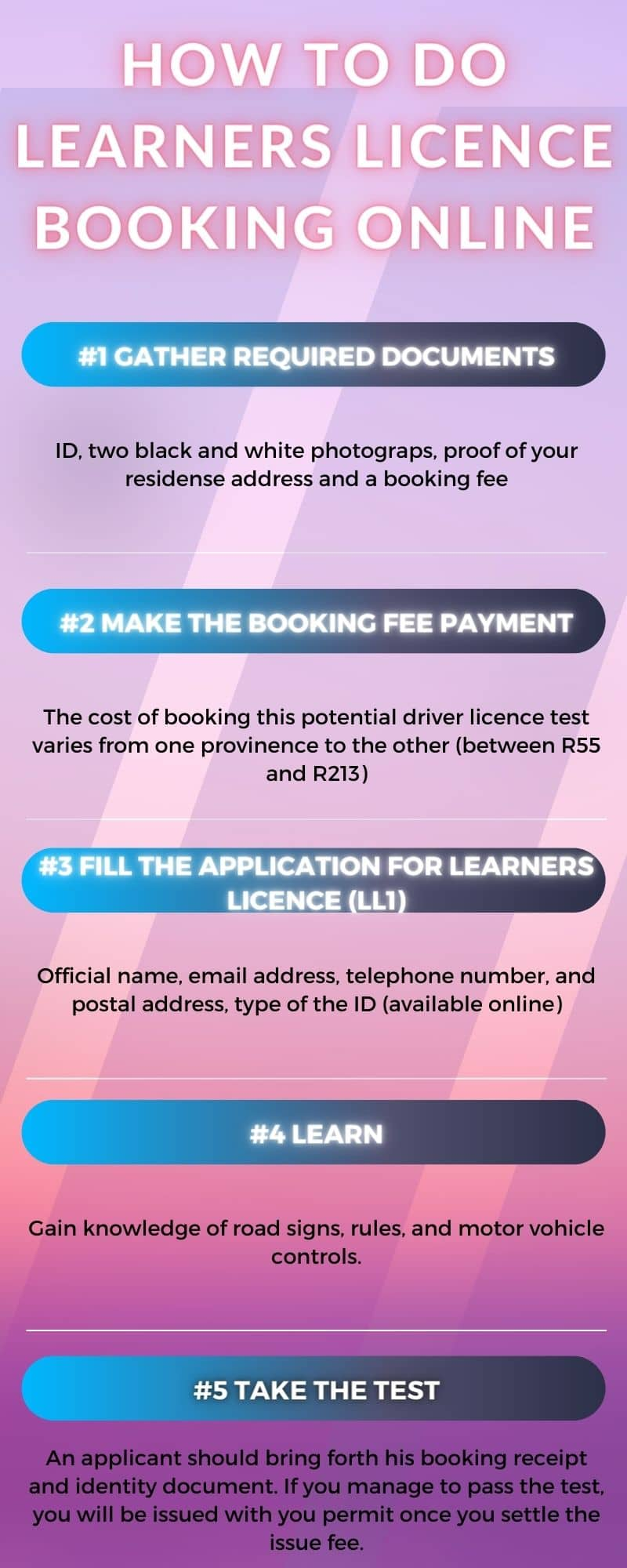learner's license booking