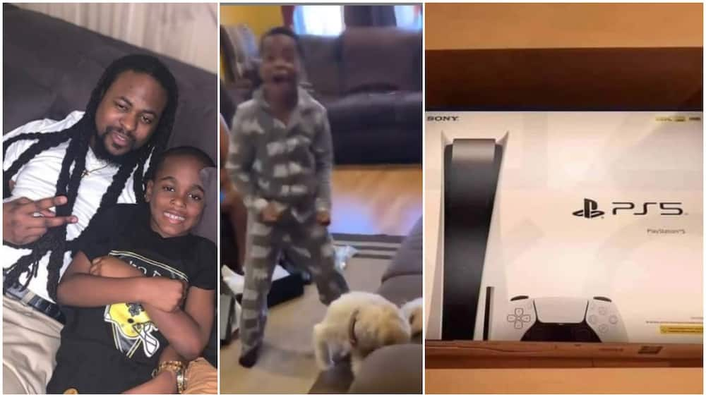Boy's priceless reactions to gift of PS5 from his dad generates reactions