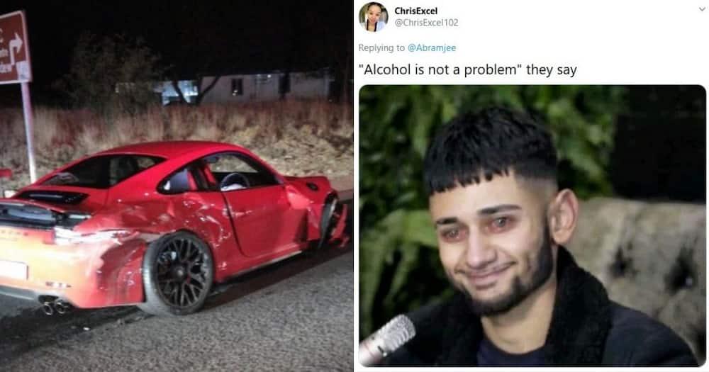 """Alleged drunk driver crashes car into police van: """"A whole Porsche"""""""