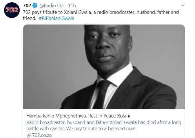 Xolani Gwala biography: age, daughters, wife, ex wife, salary, 702 and latest news