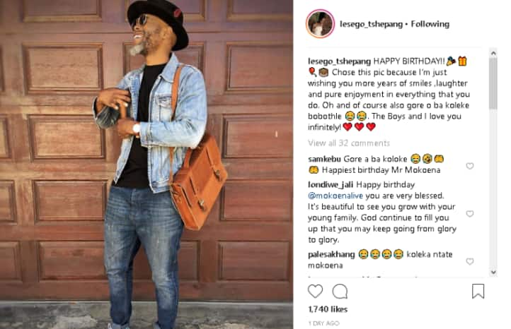 Thapelo Mokoena's beautiful wife shows him some birthday love