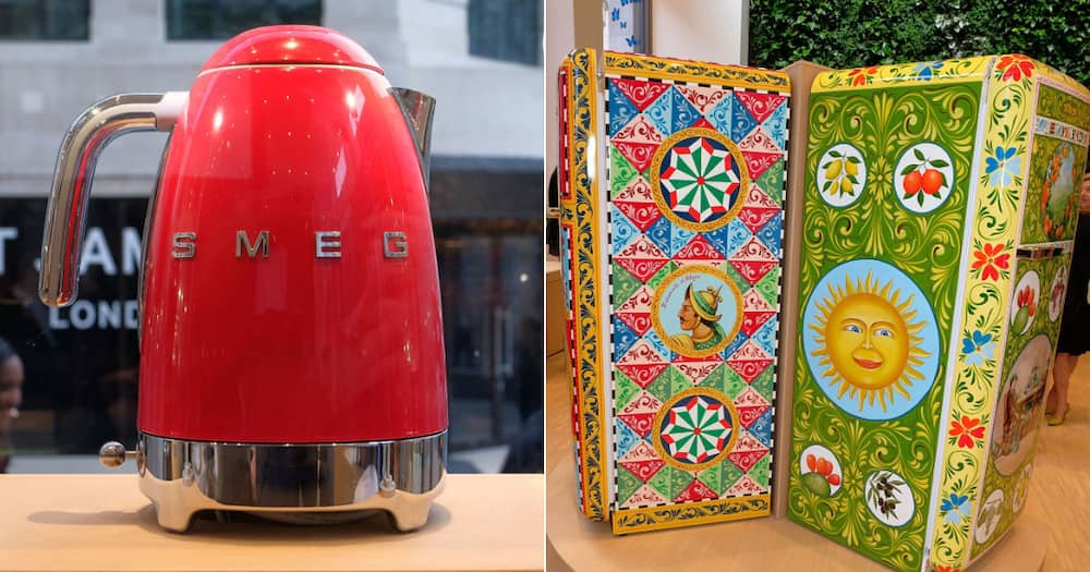 Dedicated store, SMEG, Cape Town, South Africans, Fridge, Million rand, Buyer, Brand, Dolce & Gabbana, retro, Hand painted, FAB28