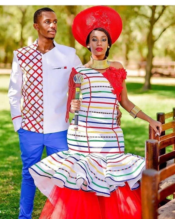 Ndebele traditional bridal dress
