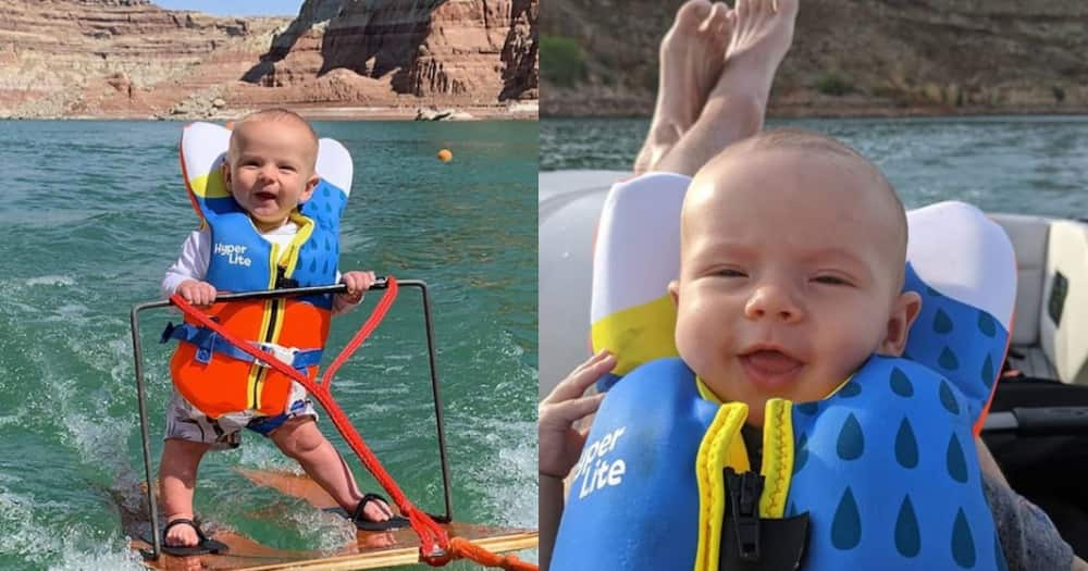 6-month-old baby becomes internet sensation after going waterskiing