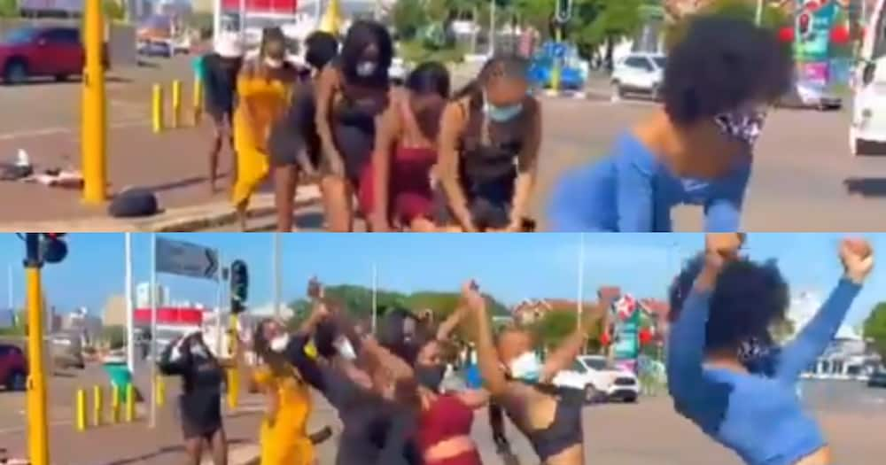 Stunning Ladies Remake Towel Robot Dance, Leave SA With Many Comments