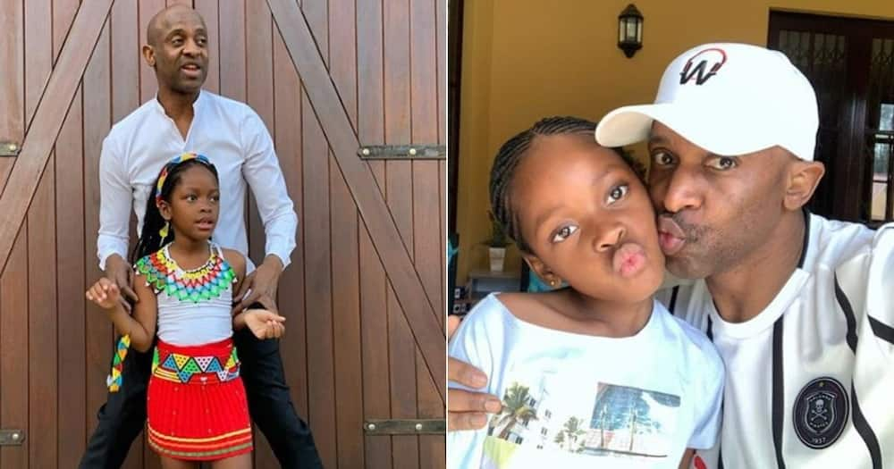 Arthur Mafokate proudly shows off all four of his beautiful children. Image: @arthurmafokate Source: Instagram