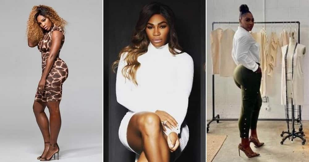 Serena Williams shows off hot bod in behind the scene photos.