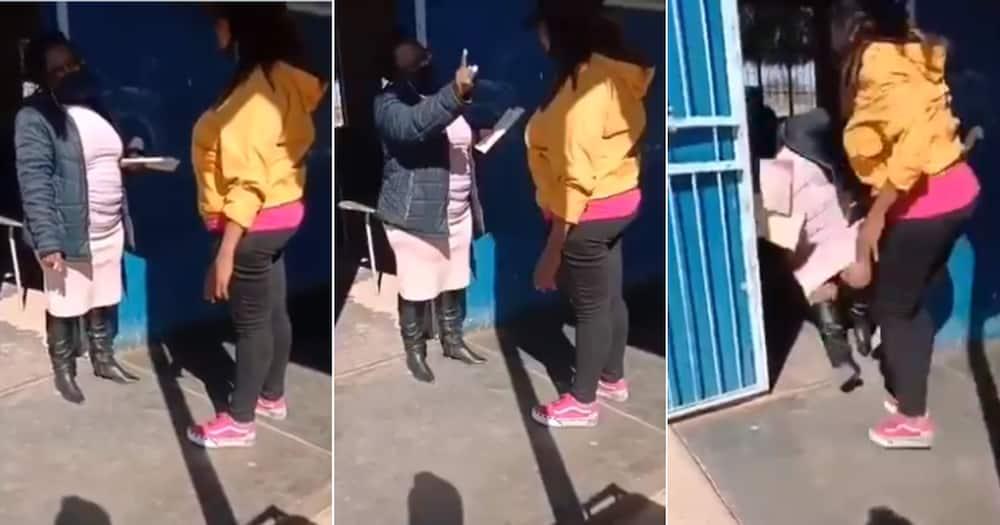 Video, Parent, Assaulting School Teacher