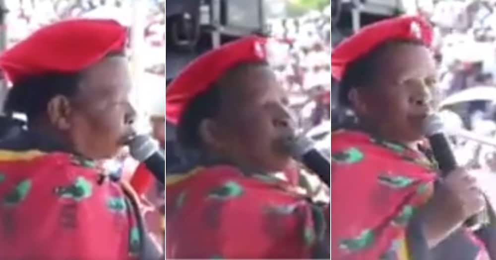 """Mzansi Laughs, Embarrassed, Female EFF Supporter, Who Shouted, """"Viva ANC"""""""