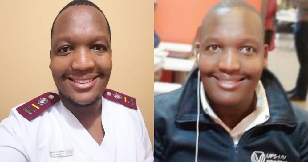 A Mzansi nurse is happy to start work today