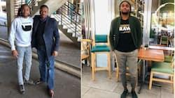 """He's fresh"": Mzansi reacts to Siphiwe Tshabalala's photo wishing dad a happy birthday"