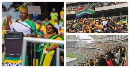 ANC supporters fill up Moses Mabhida Stadium to support ruling party