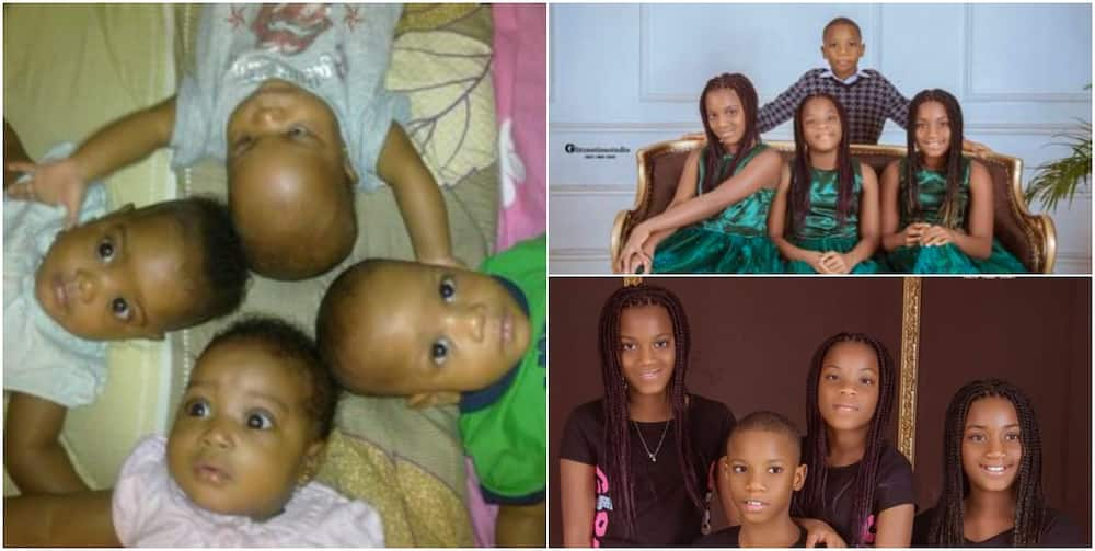 Mum of quadruplets celebrates her babies at 10 with beautiful photos