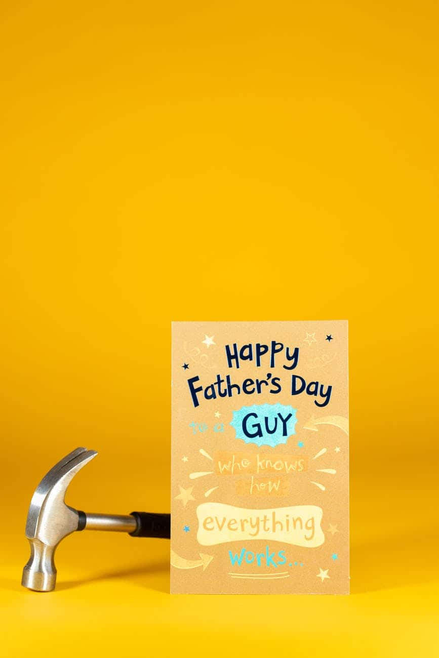 The affirmative Father's Day picture