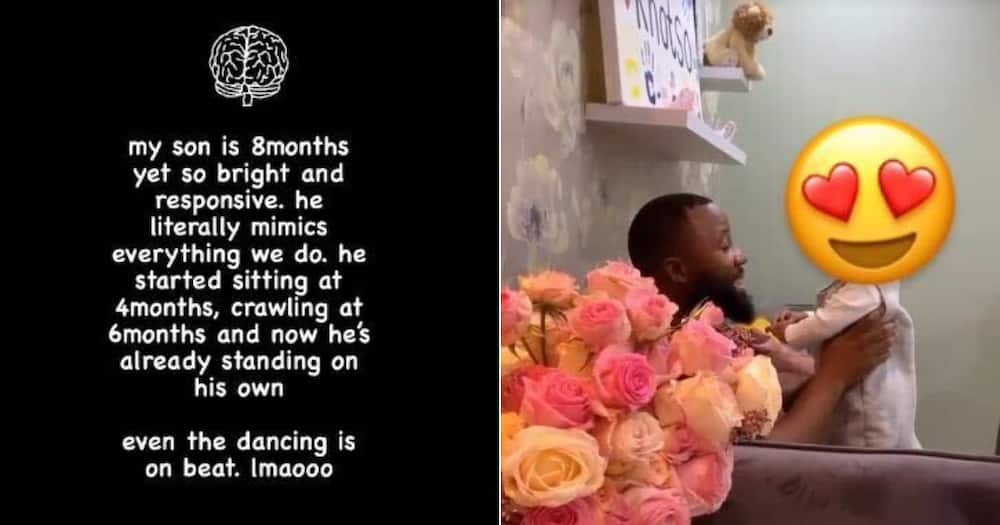 Cassper's Baby Momma Shows off Khotso's Cool New Skills: He Can Stand
