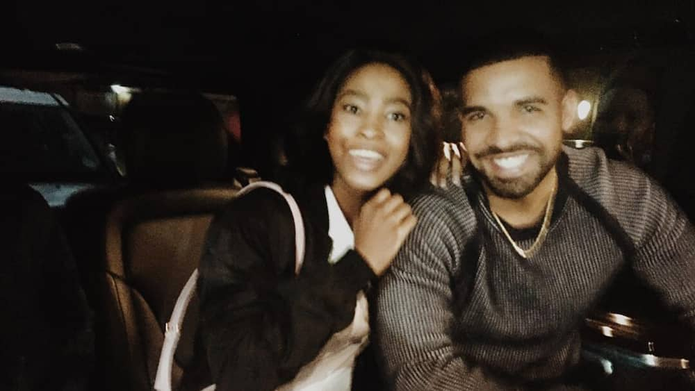 Nellie Tembe and Drake pictures