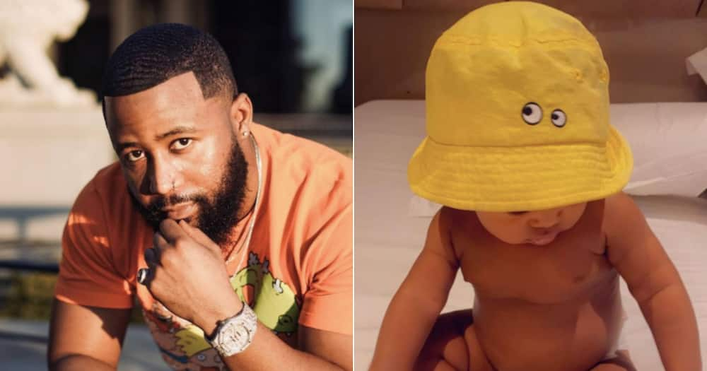 Baby Khotso gets an iconic ponytail like his daddy Cassper Nyovest
