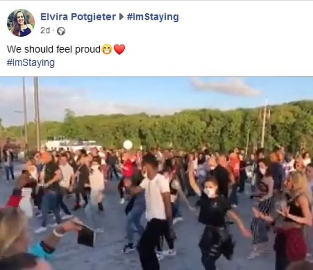 Viral video shows people in France dancing the Jerusalema dance