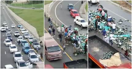 Motorists caught on video helping themselves to beer strewn on highway