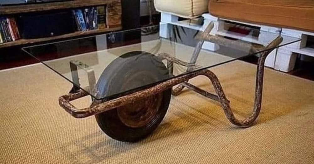 Mzansi, Blown Away, Unusual, Wheelbarrow, Table
