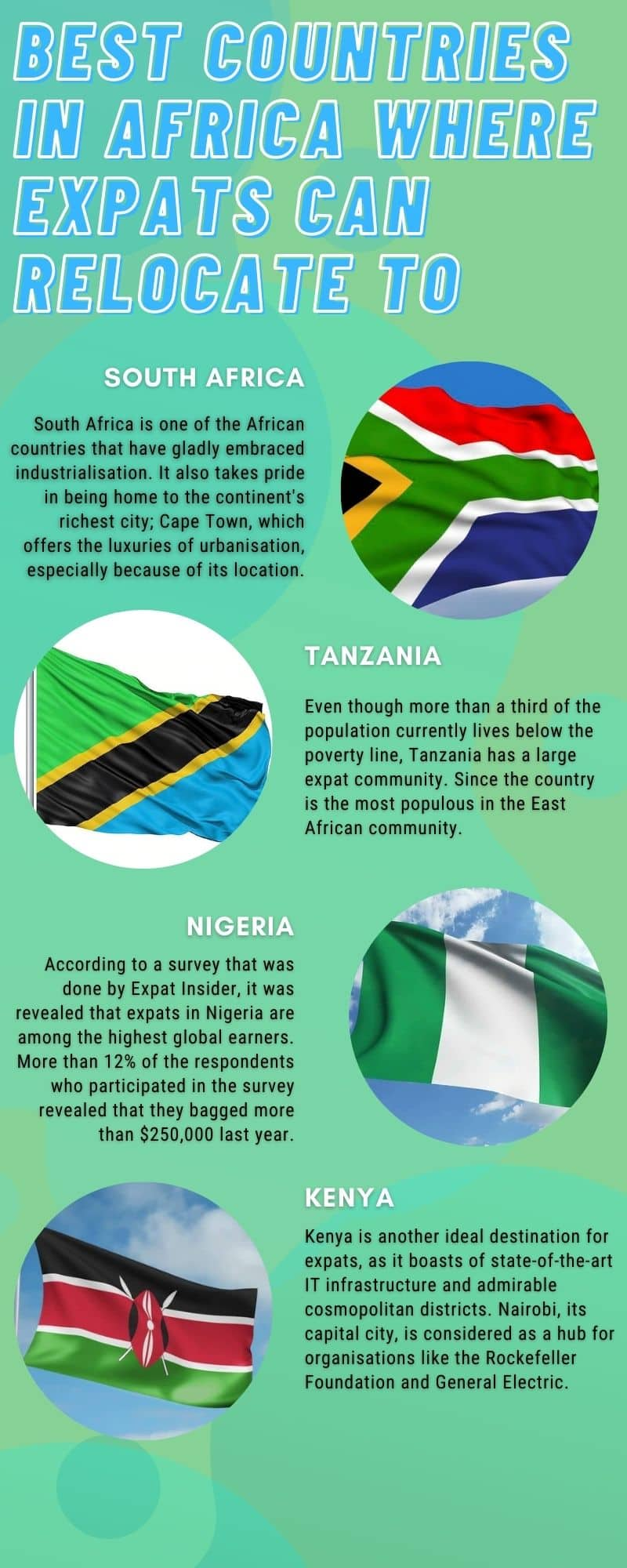 best countries in Africa where expats can relocate