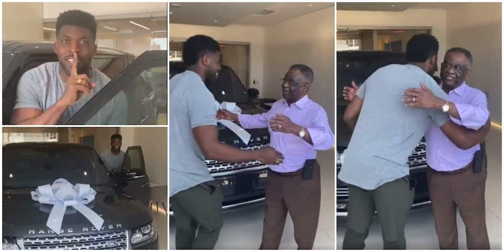 Man Moves Dad to Tears as he Surprises Him with Range Rover Car Gift on His 70th Birthday, Video Causes Stir