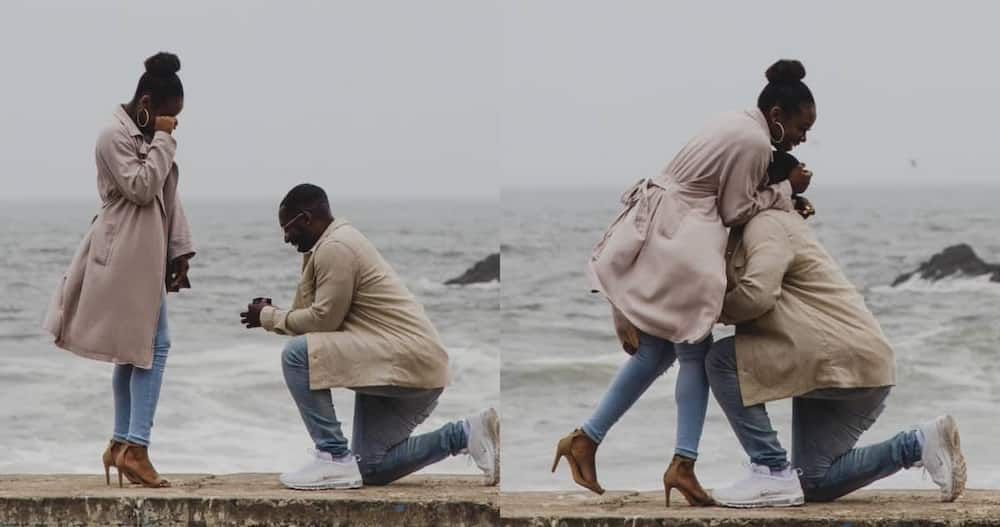 Photographer on tour spots unknown couple's proposal & captures sweet moment