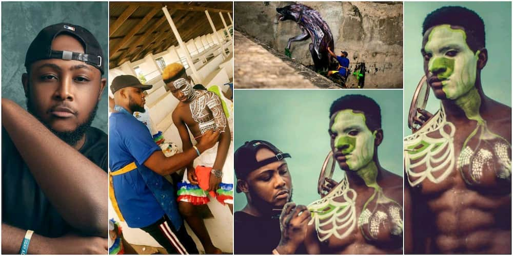 Meet Kyrian, Nigerian graduate who paints body for survival