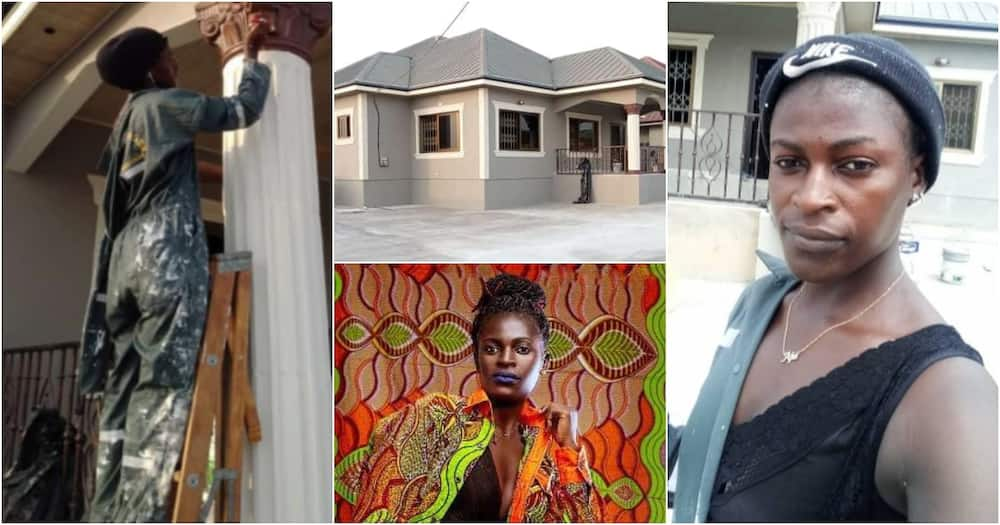 Rachael Mensah: Meet the female JHS leaver boldly making gains as a professional painter