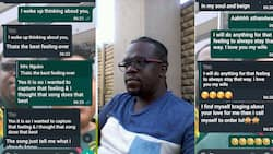 Man shares heartwarming chats with wife, Mzansi takes notes