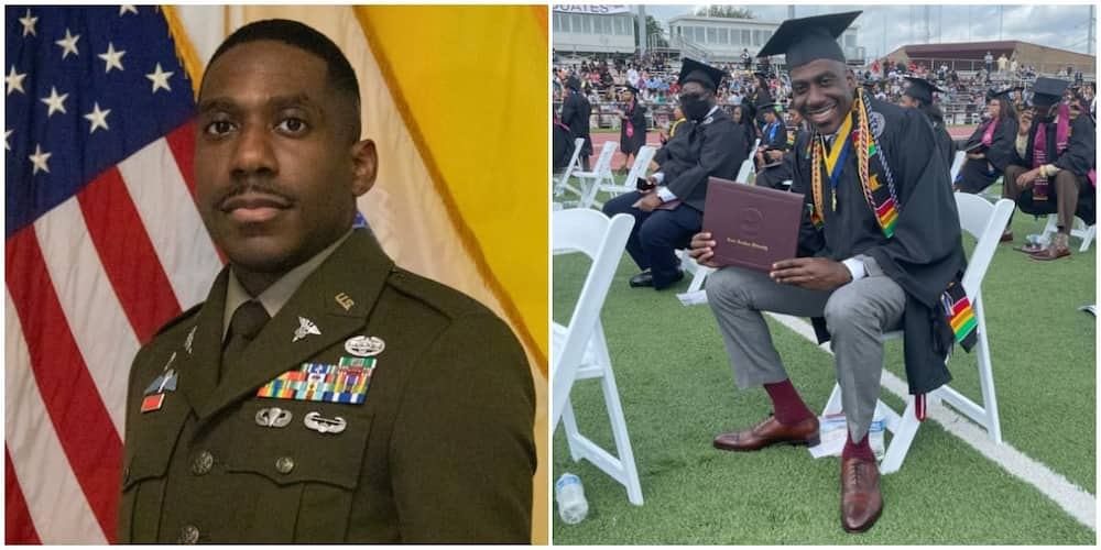 """Joy as a man celebrates becoming a graduate after 17 years. Image: T. Terrell """"Ian"""" Parker/@LinkedIn"""