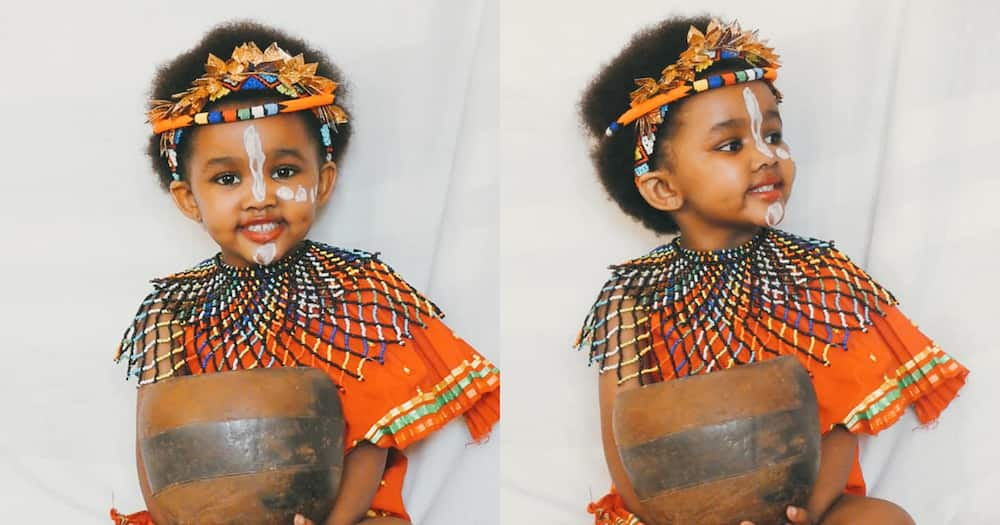 Adorable baby girl wows internet in her Heritage Day traditional outfit