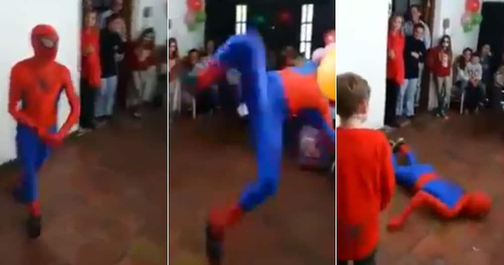Spiderman's stunts go wrong