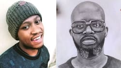 """""""Please teach Rasta"""": Mzansi in love with young artist's amazing portrait of Black Coffee"""