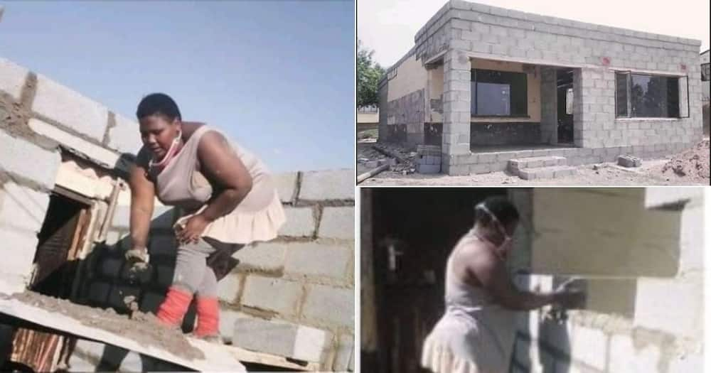 female engineer, construction, builder, parent's home