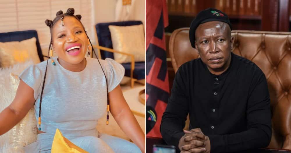 Makhadzi shares throwback having fun with Julius Malema at his birthday party