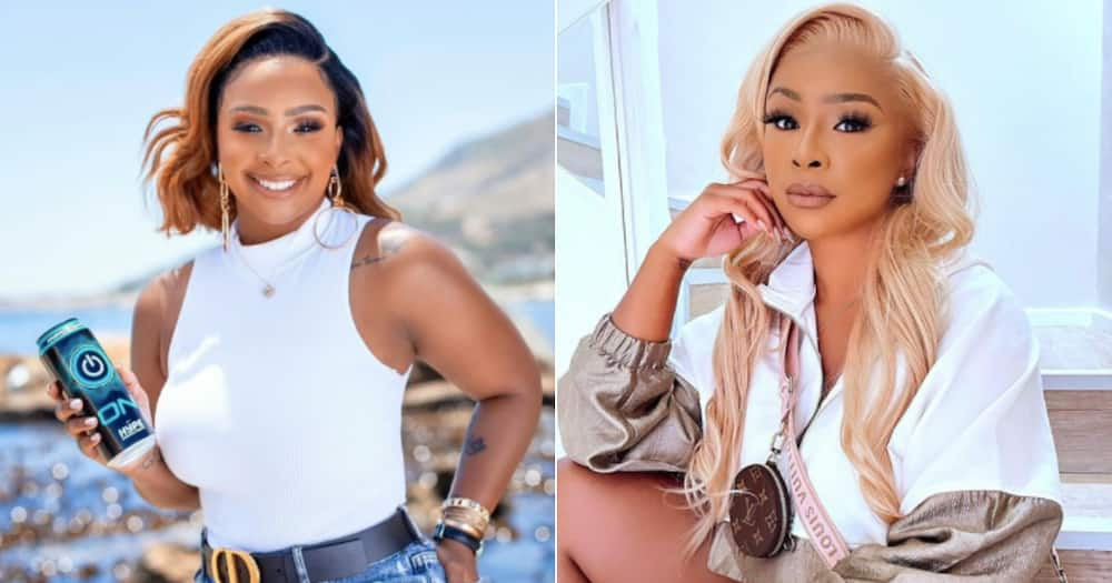 Soft life and legs for days: Boity shows off all Gucci outfit, looking like flames