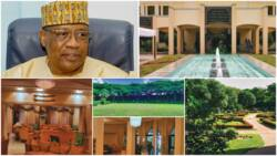 Photos show inside palatial mansion owned by former Nigerian president, chairs look like gold