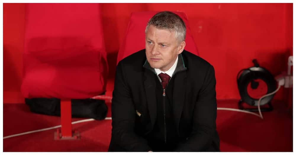 Solskjaer cuts a dejected face during a past Man United clash. Photo: Getty Images.