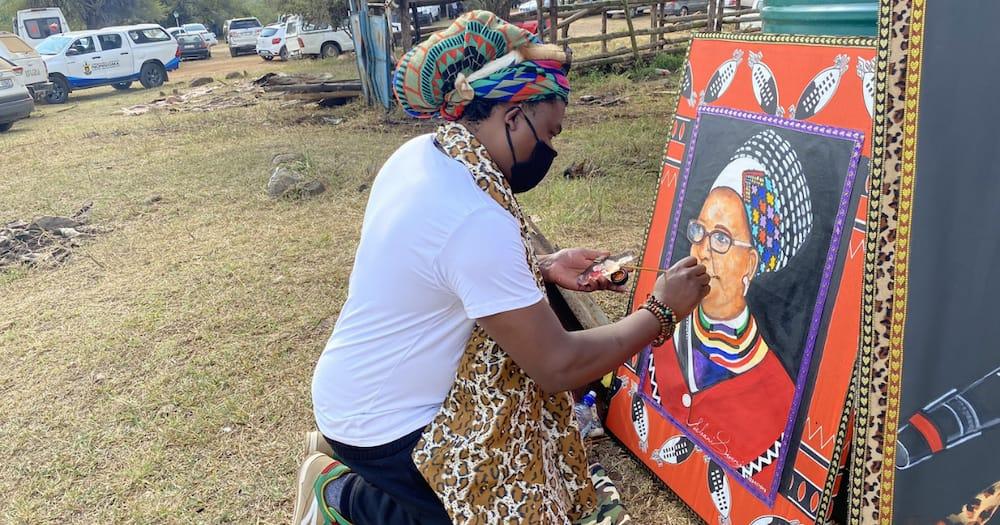 """Rasta Fears Amazulu"": Mzansi Reacts to Queen Mantfombi Painting"