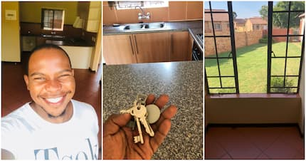Delighted Pretoria man shows off his 1st home and wins Twitter praise