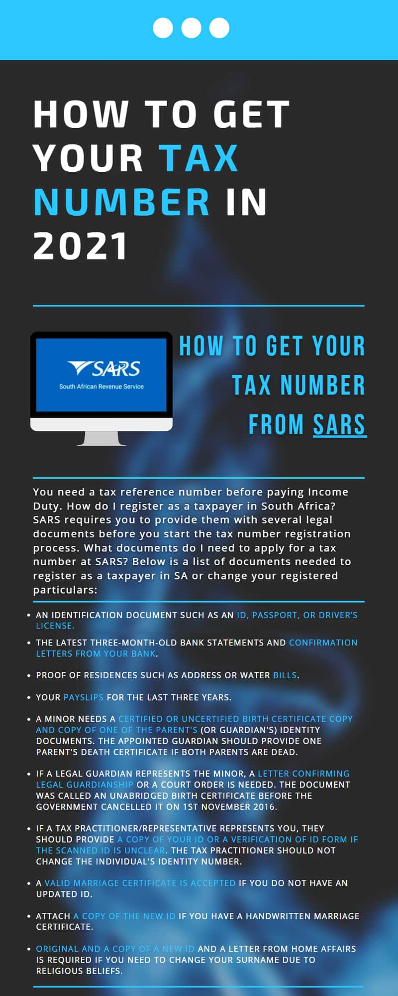 How to get your tax number