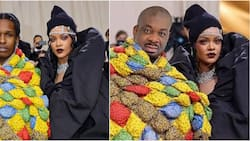Met Gala 2021: Don Jazzy crops out Rihanna's lover, photoshops himself into pic