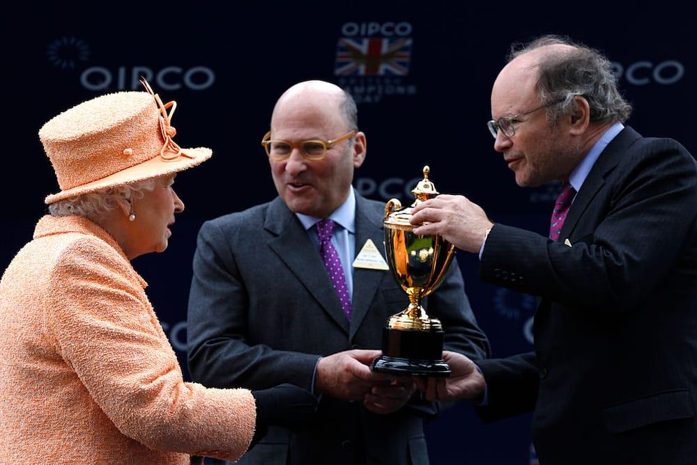 Queen Elizabeth, Alain Wertheimer and Gerard Wertheimer
