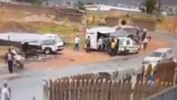 """""""A joke"""": SA reacts to clip of cops getting robbed of guns in Tembisa"""