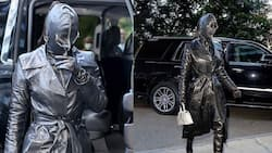 Kim Kardashian steps out covered in unconventional head-to-toe leather suit