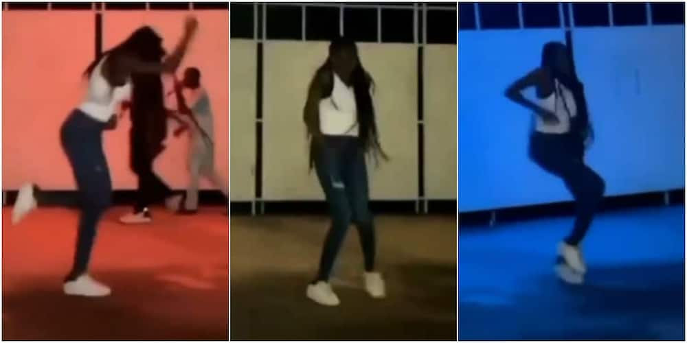 The lady has been hailed for her amazing dancing skills